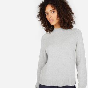 Everland Cotton Mockneck Gray Sweater Large